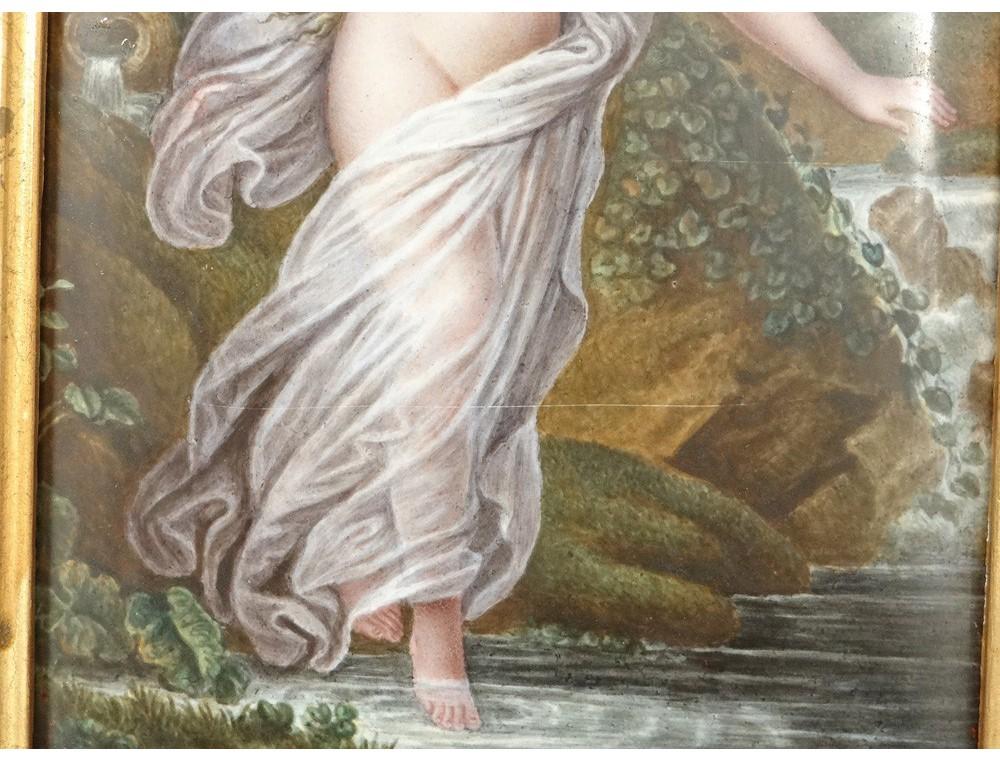 Tableau peinture maux peints limoges cuivre femme na ade for Tableau peinture