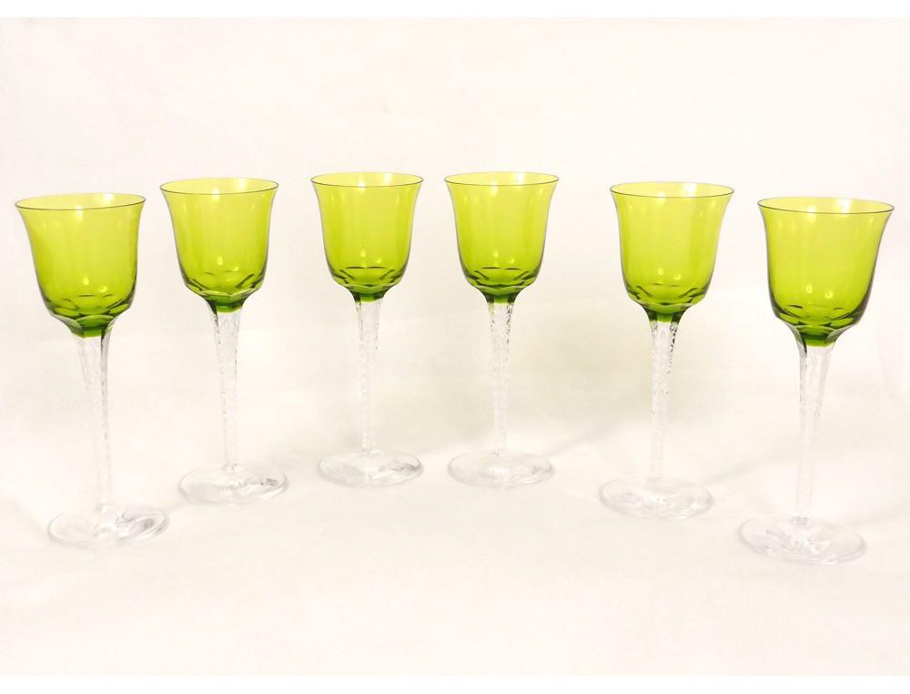 6 verres vin rhin roemer cristal lalique france tr ves. Black Bedroom Furniture Sets. Home Design Ideas
