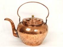 Bouilloire cuivre antique french kitchen copper XVIIIème siècle