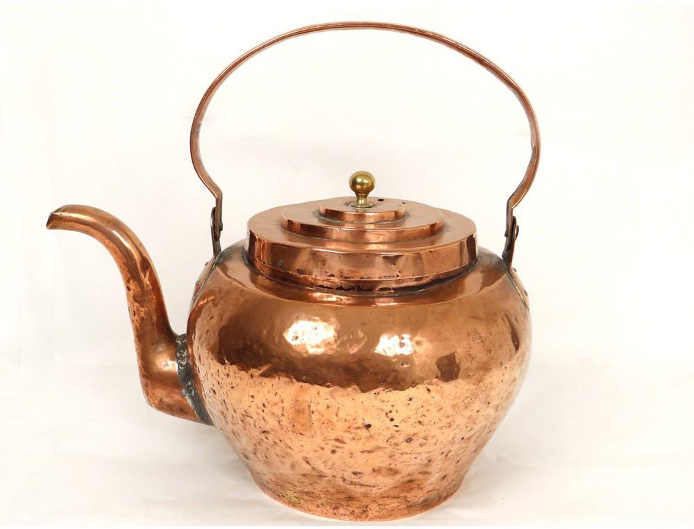 Bouilloire Cuivre Antique French Kitchen Copper Xviii 232 Me