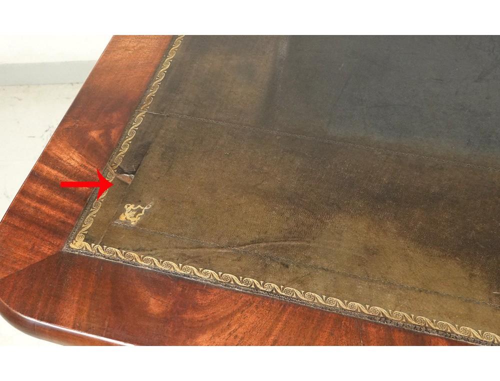 rare table la tronchin bureau restauration acajou cuba cuir xix me si cle. Black Bedroom Furniture Sets. Home Design Ideas