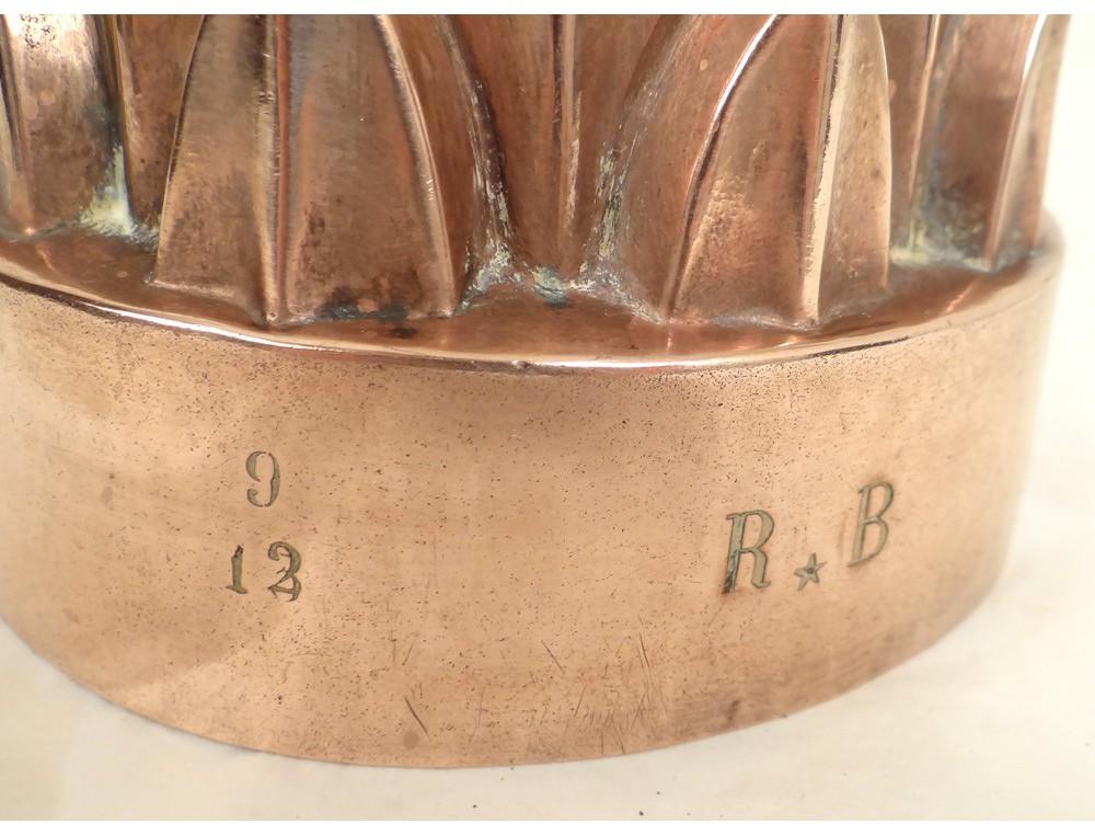 moule g teau cuivre kitchen copper antique french xix me si cle. Black Bedroom Furniture Sets. Home Design Ideas
