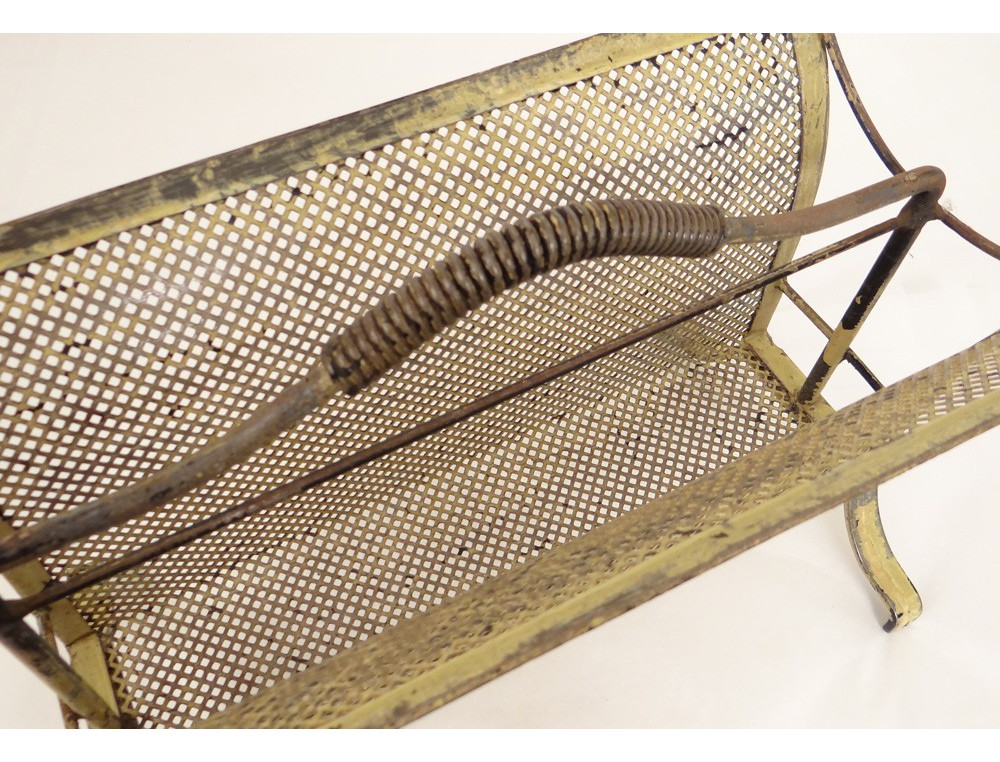 porte revues design m tal peint vintage antique french. Black Bedroom Furniture Sets. Home Design Ideas
