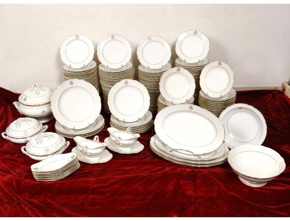 Service vaisselle table 180 pi ces porcelaine paris - Vaisselle table passion ...