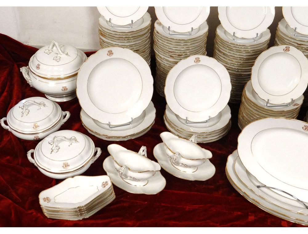 Service Vaisselle Table 180 Pi Ces Porcelaine Paris