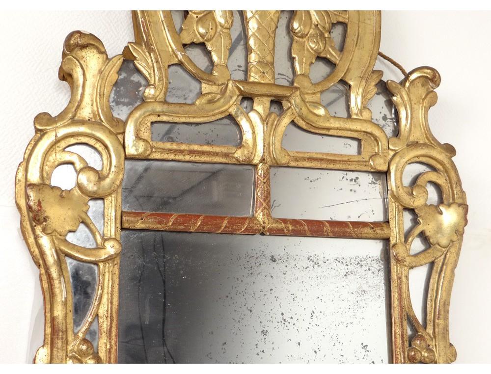 miroir r gence glace cadre bois sculpt dor fleurs fruits. Black Bedroom Furniture Sets. Home Design Ideas