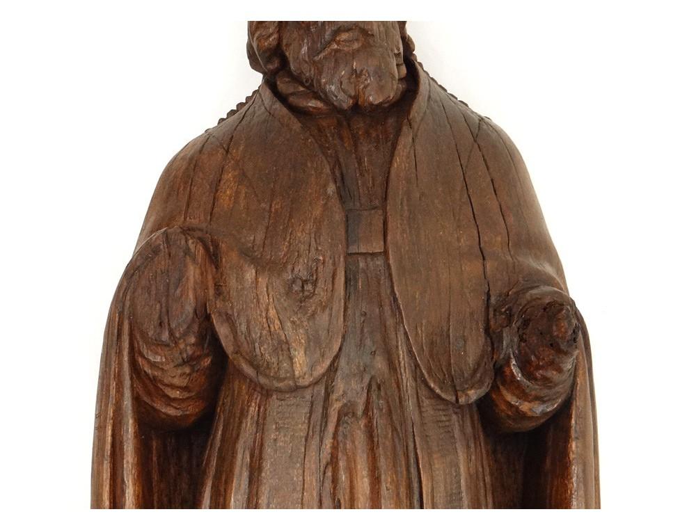 Statue Sculpture Bois Saint Pierre 233 V 234 Que Rome Pape Mitre