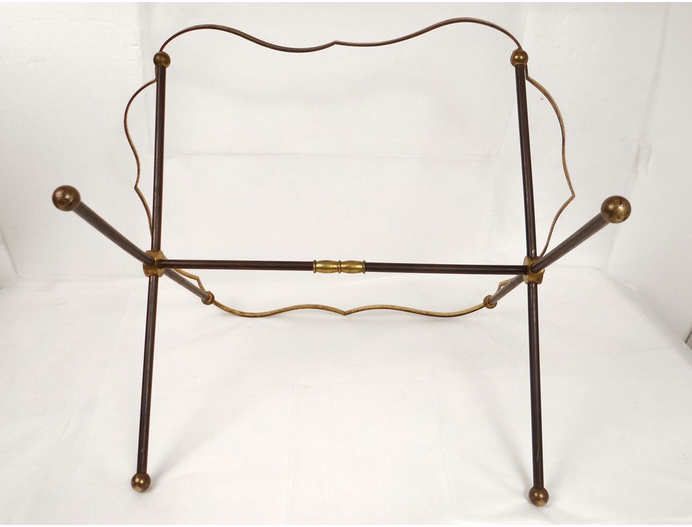 Small Side Table Painted Sheet Metal Golden Brass Napoleon