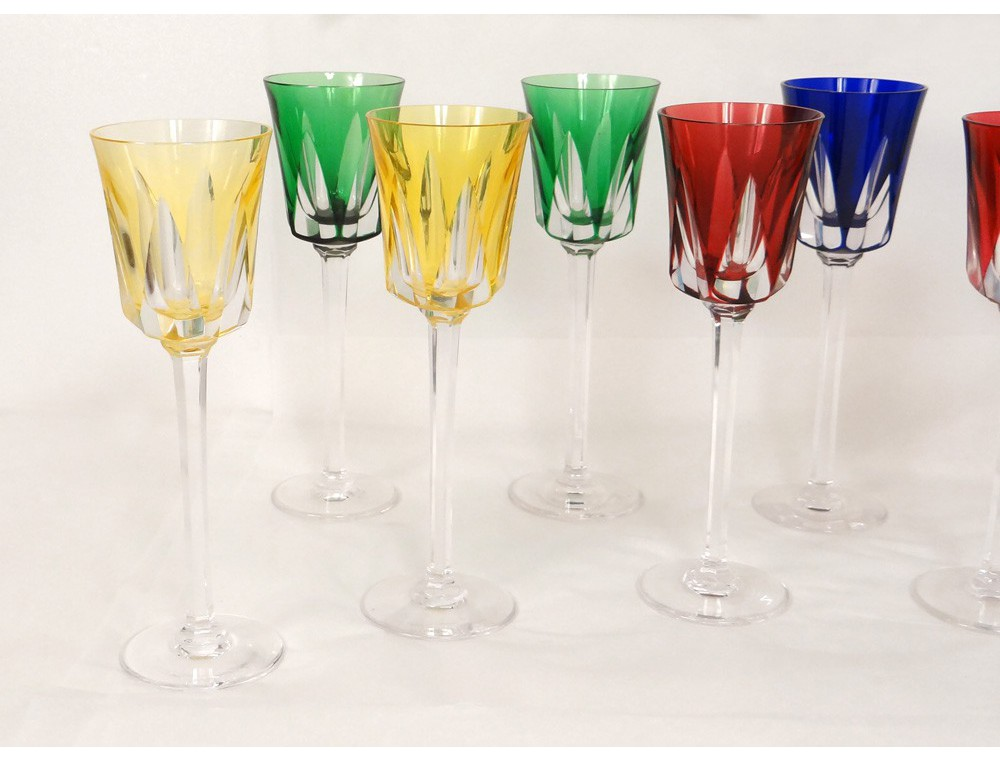 Sevres France  City new picture : 11 foot roemers crystal glasses sevres france color segovia xxeme