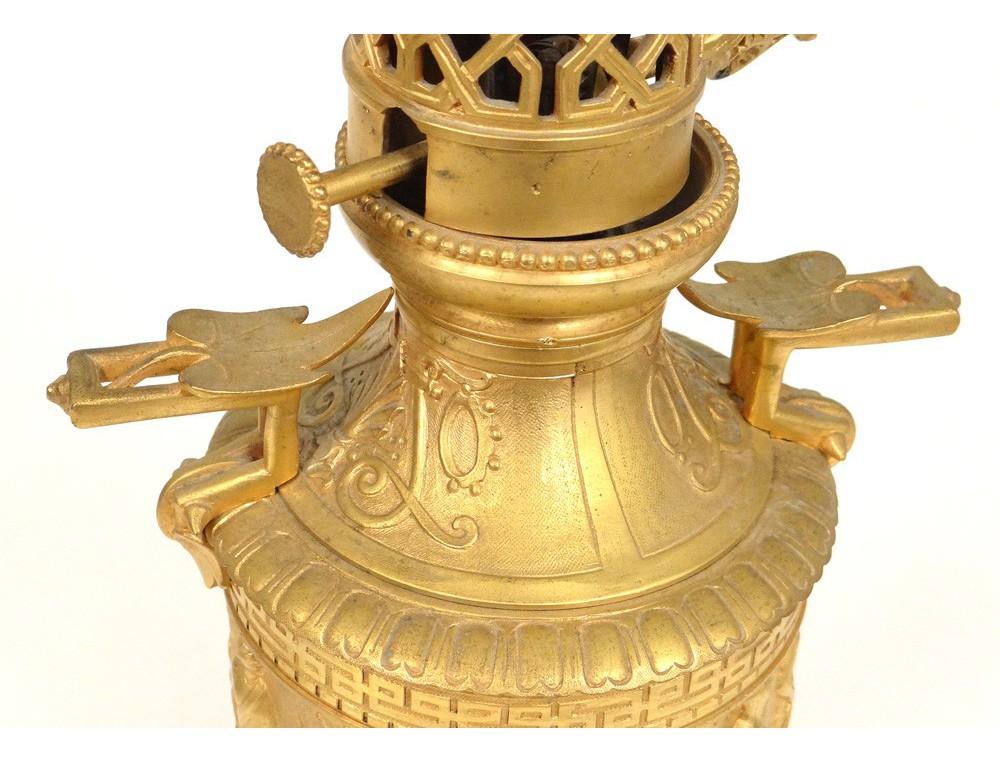 lampe p trole bronze dor personnages antiques dieux. Black Bedroom Furniture Sets. Home Design Ideas