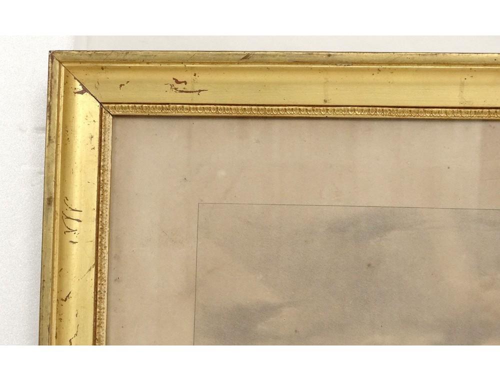 Cadre baguette bois stuqu dor restauration antique for Baguettes bois decoratives
