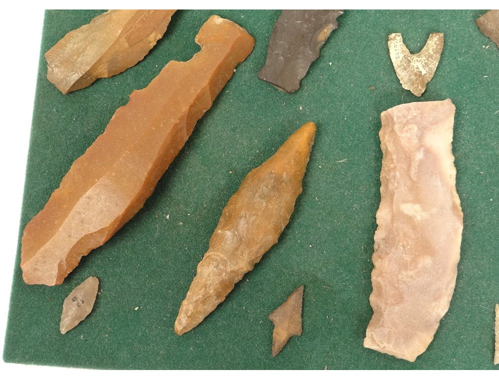 Lot Tips Prehistoric Flint Stone Neolithic Knives Arrows