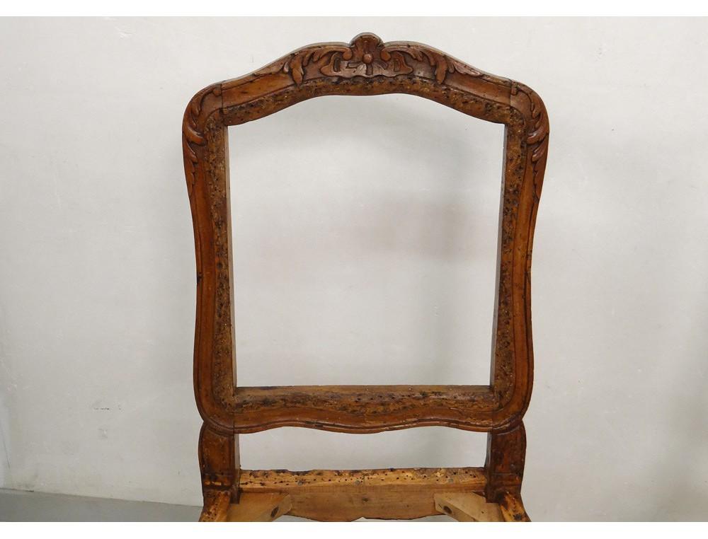 paire chaises louis xv bois sculpt 233 estille reuze fleurs coquille xviii 232