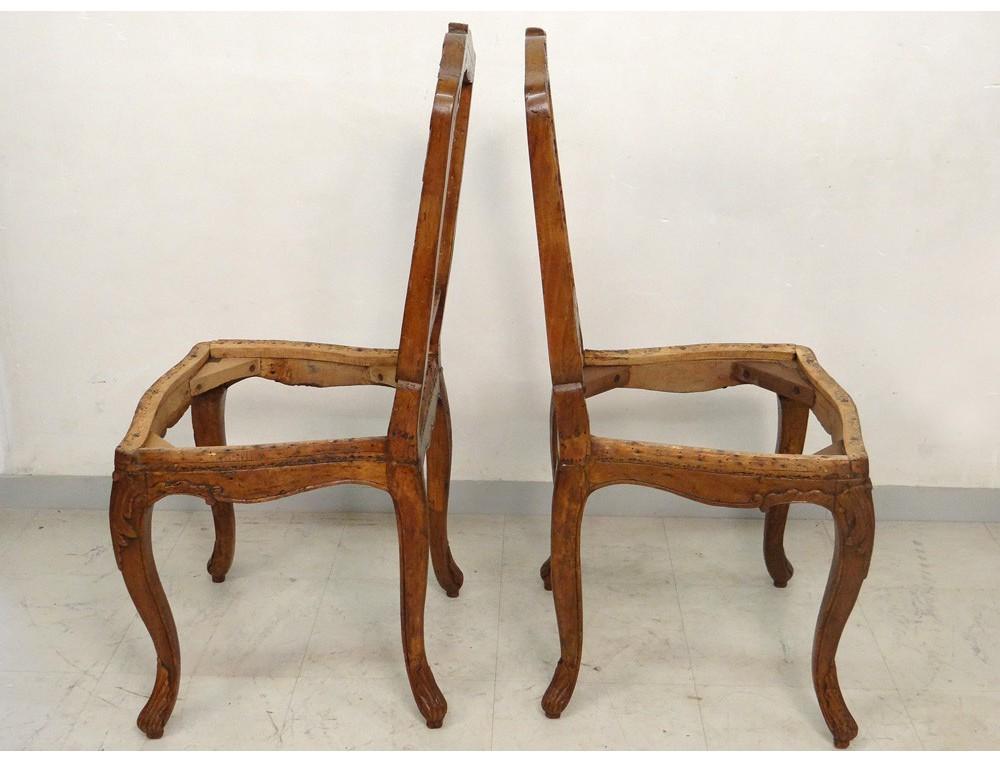 paire chaises louis xv bois sculpt estampille reuze. Black Bedroom Furniture Sets. Home Design Ideas