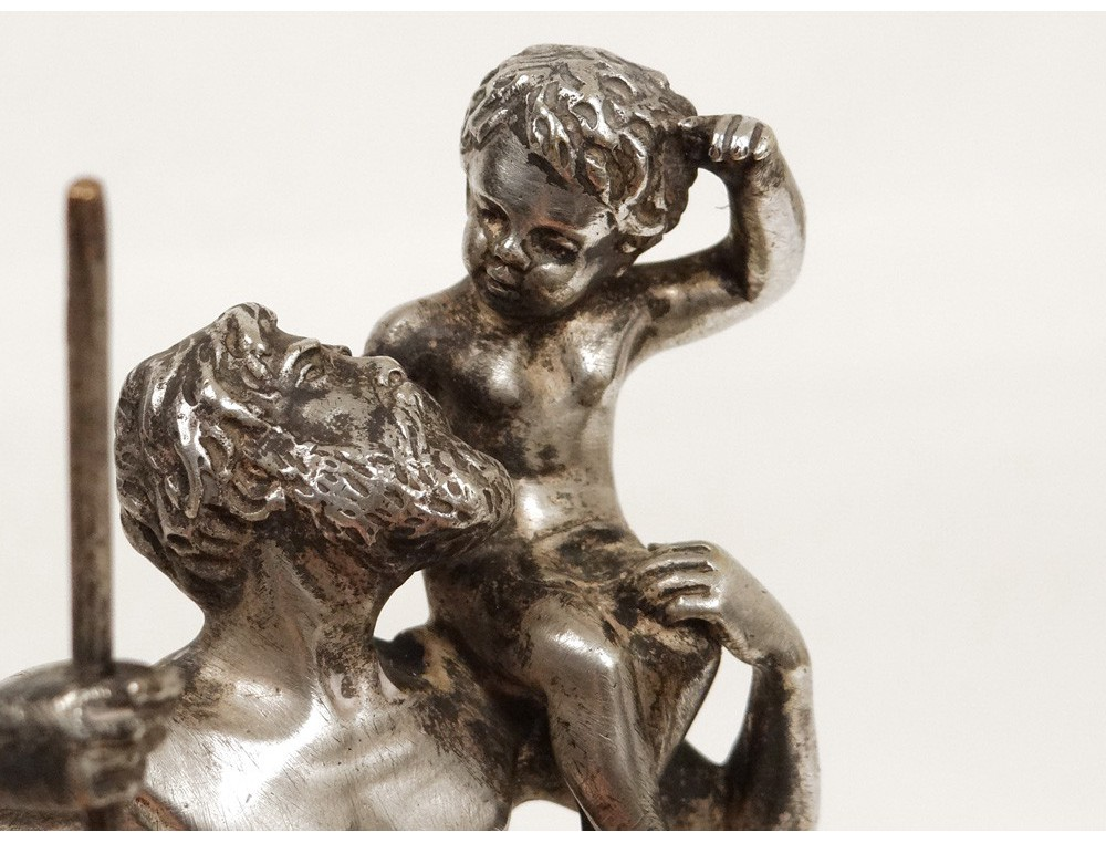 Silvered Bronze Sculpture Henry Fug 232 Re Saint Kitts Child