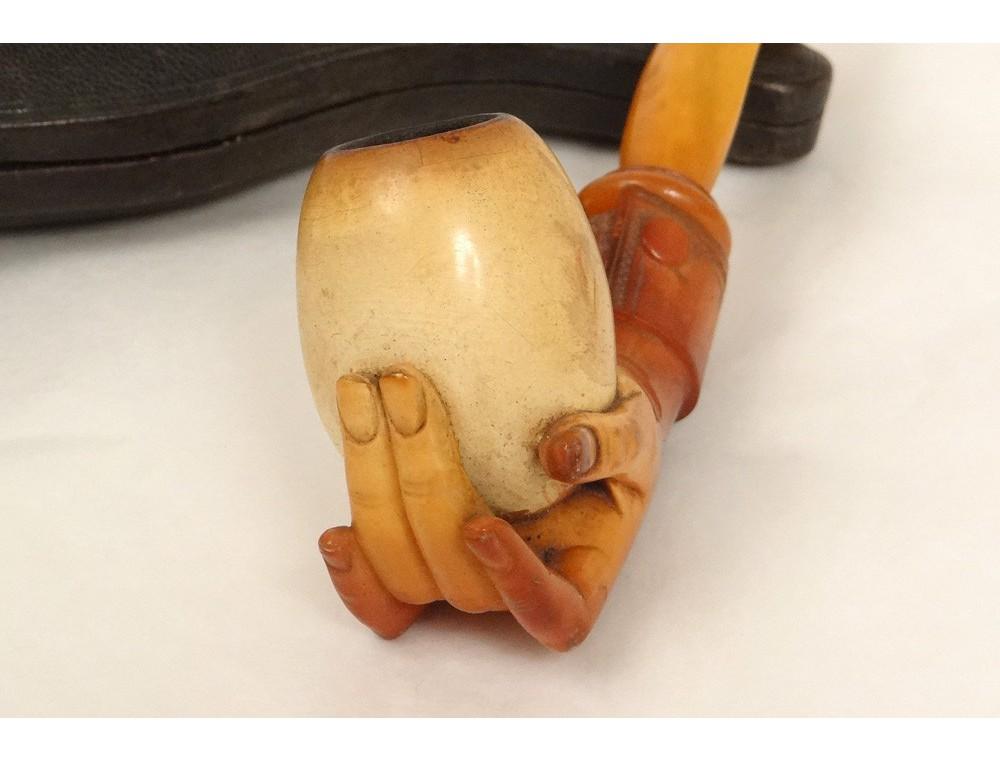 Meerschaum Pipe Amber Antique Hand Carved Meerschaum Pipe