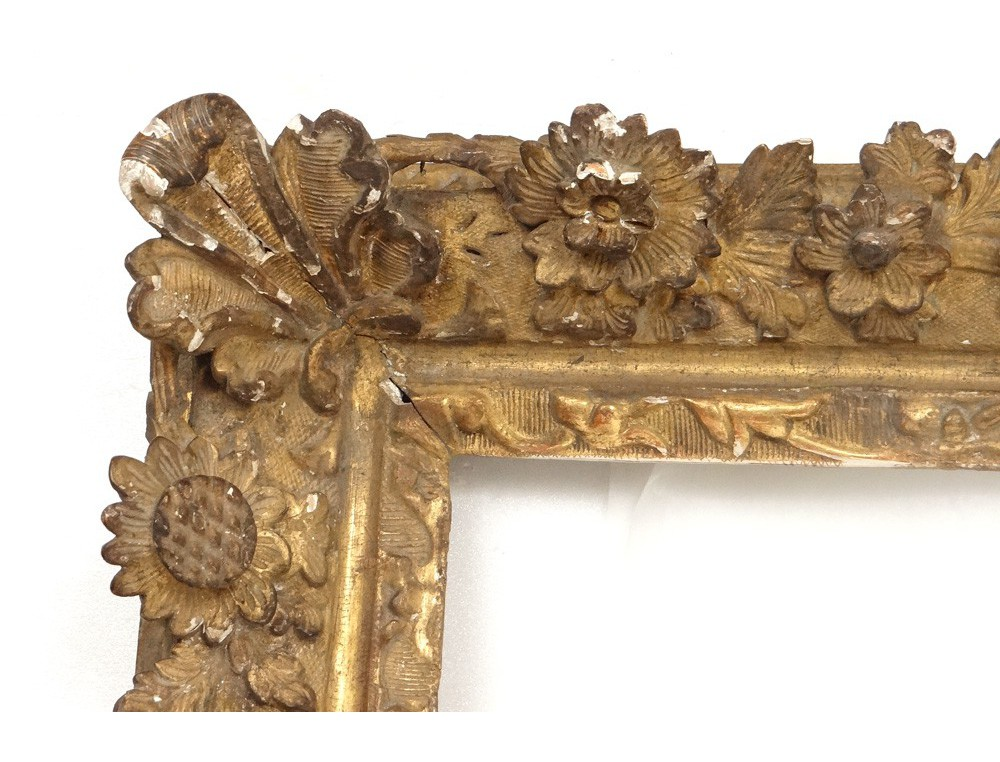 Grand Regency Carved Gilt Frame French Antique Flowers
