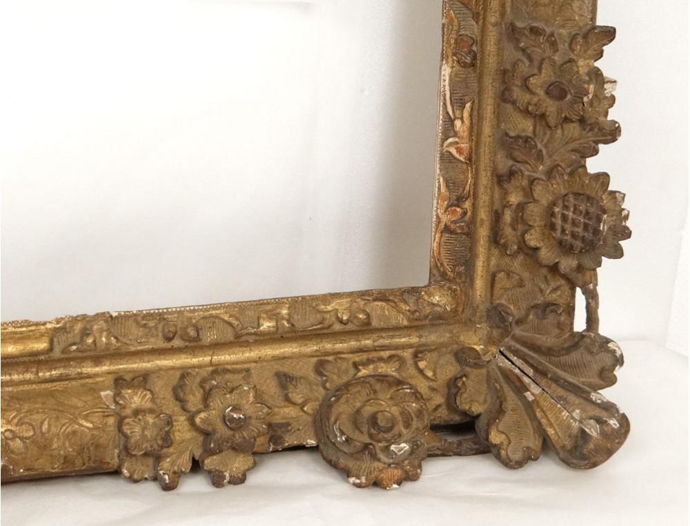 Grand Regency Carved Gilt Frame French Antique Flowers