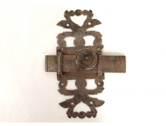 loquet de porte ancien fer forg ferrure antique french thumb latch xvii me ebay. Black Bedroom Furniture Sets. Home Design Ideas