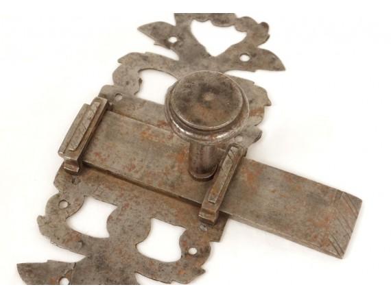 loquet de porte ancien fer forg ferrure antique french thumb latch xvii me ebay. Black Bedroom Furniture Sets. Home Design Ideas