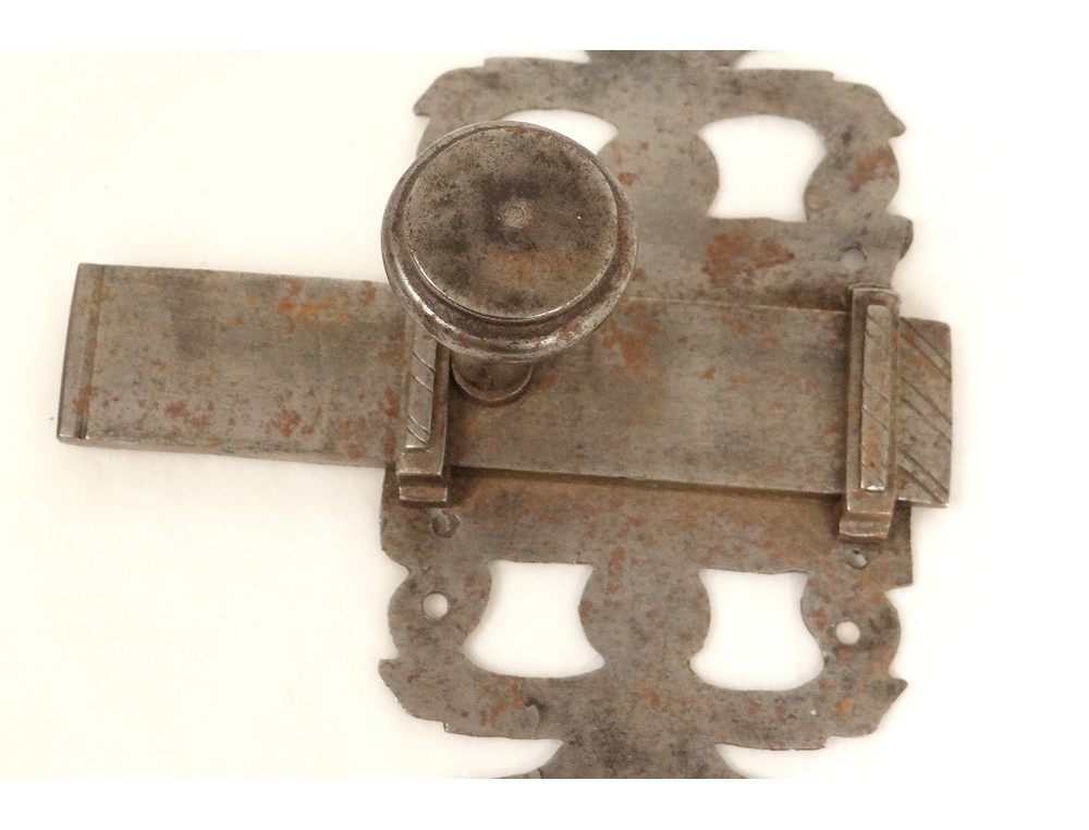 Door latch old antique wrought iron fitting french thumb