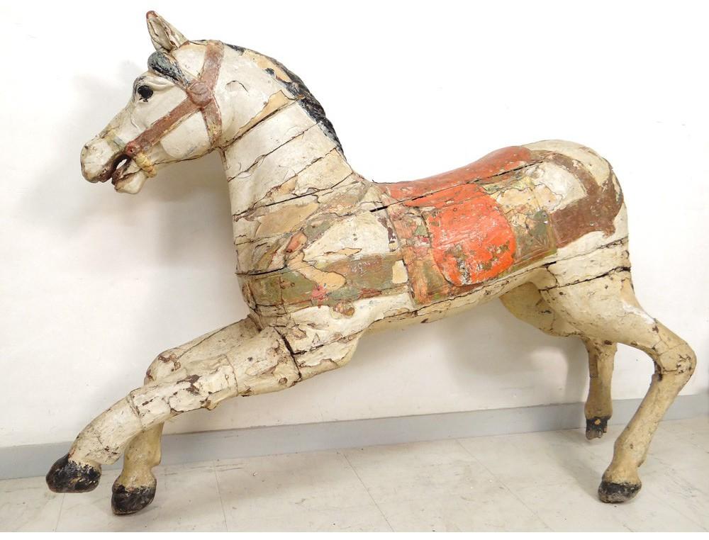 dfb4f6da000 Cheval de manège carroussel bois sculpté polychrome Limonaire Frères XIXème