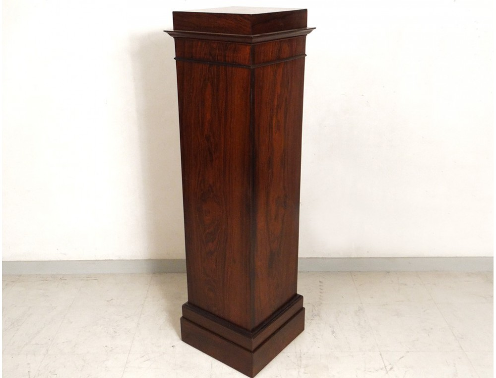 Decorative Column Media Sculpture Antique Rosewood French