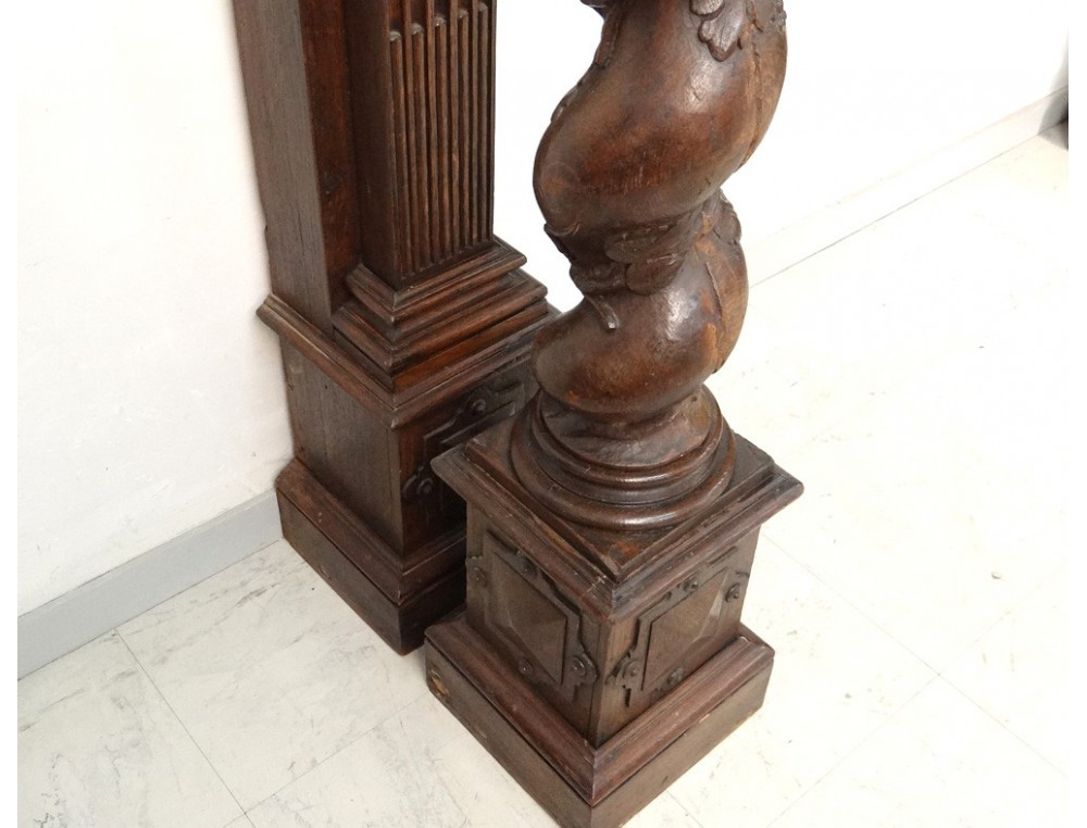 Decorative trim element dragons carved fireplace ...