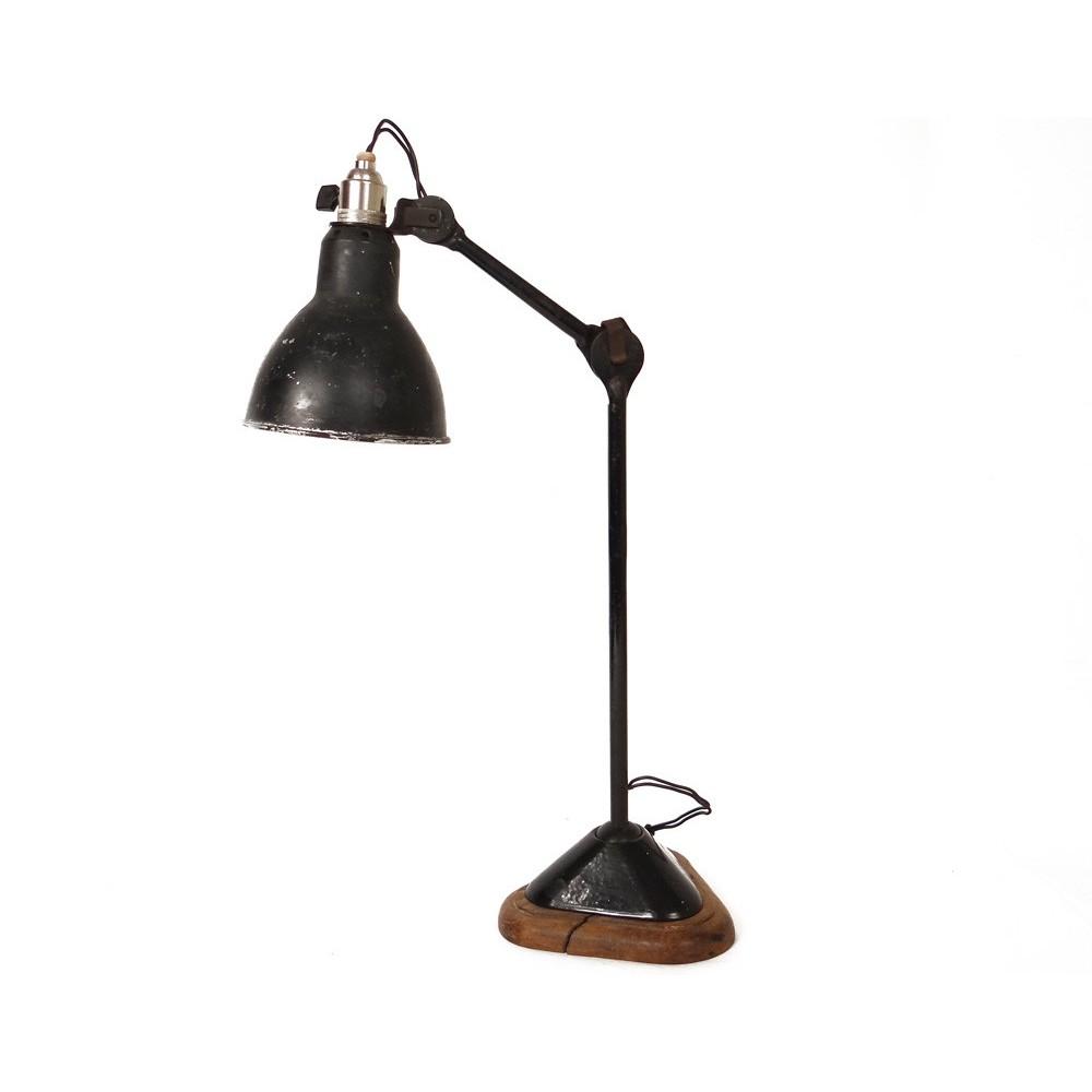 lampe de table bureau architecte gras mod le 206 fonte maill e ch ne xx me. Black Bedroom Furniture Sets. Home Design Ideas