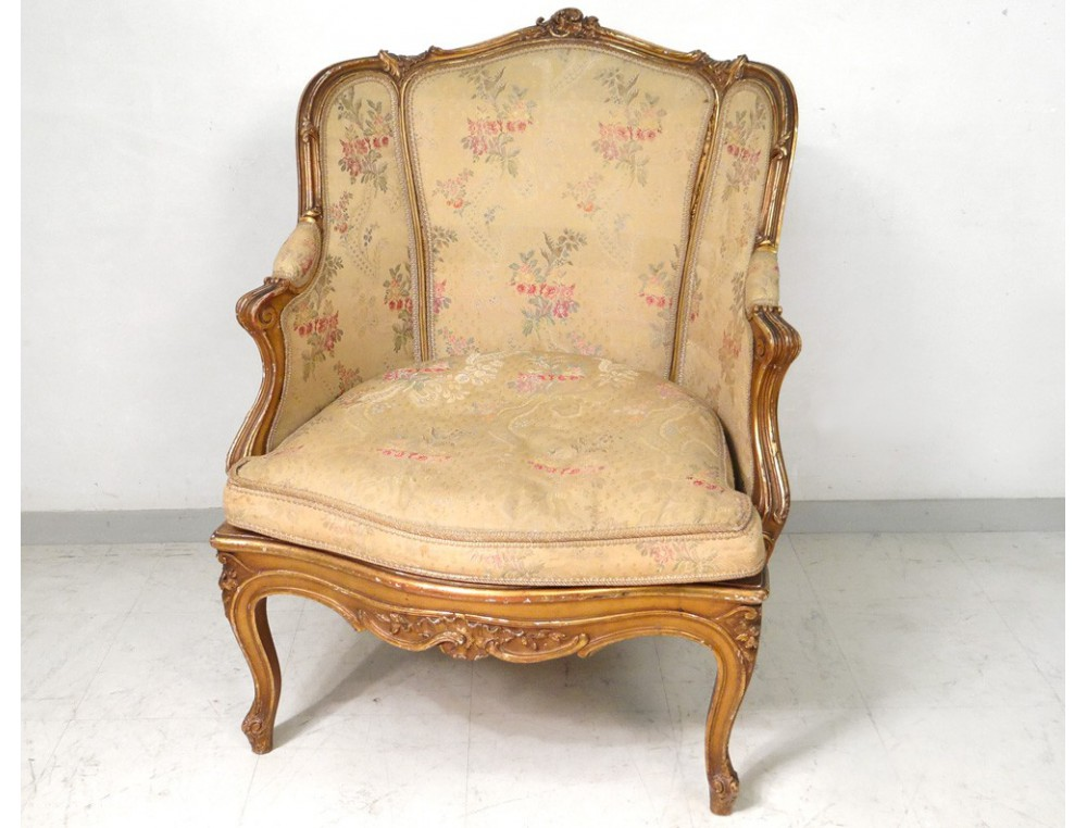 Berg 232 Re Louis Xv Armchair Carved Gilded Cane Napoleon Iii