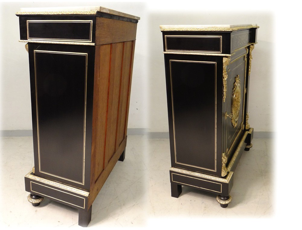 Support furniture napoleon iii ebonized wood bronze brass for Furniture helpline