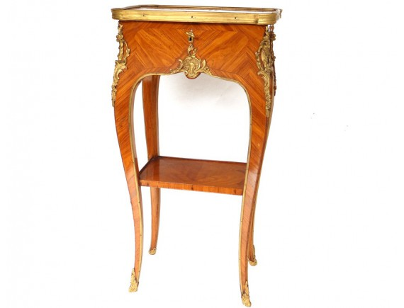 Table Salamanger Violon : Home > FURNITURE > Tables / Consoles > A worker Louis XV marquetry ...