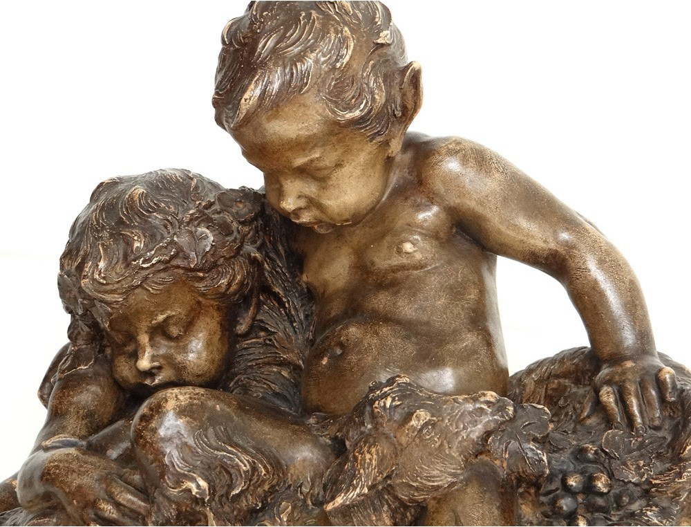 Terracotta Sculpture Charles Perron young goat satyrs ...