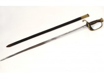 Sabre sword child infantry officer wood gilded bronze nineteenth century