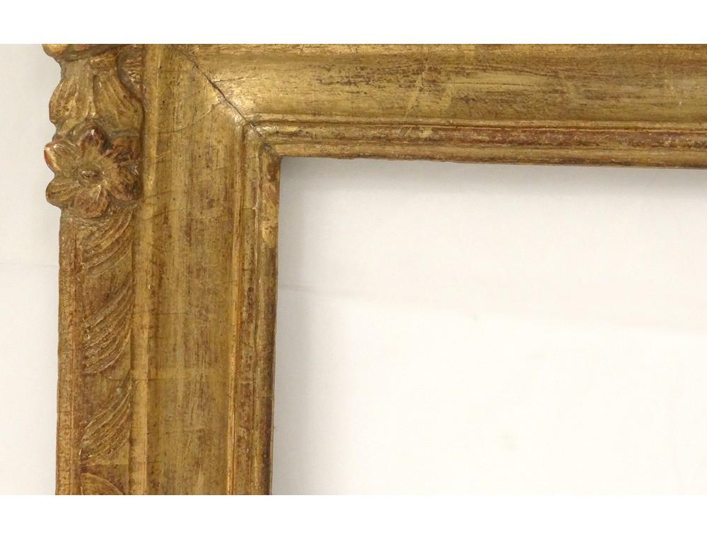 Regency Carved Gilt Wood Frame Antique Flowers Frame