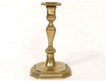 Candlestick torch crest Louis XIV ormolu candlesticks crest XVIIè