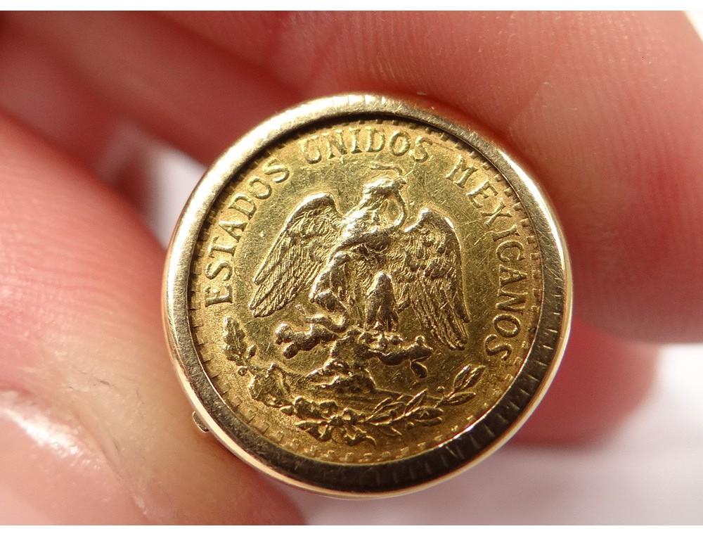 Bague Pi 232 Ce Dos Pesos Mexique Or Massif 18k Estados Unidos