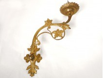 Sconces applies picnic candle gilt bronze Napoleon III nineteenth vine