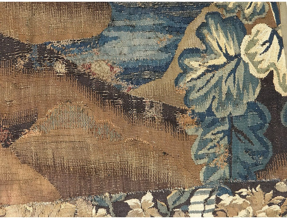 tapisserie aubusson porti re paysage verdure oiseau tang. Black Bedroom Furniture Sets. Home Design Ideas
