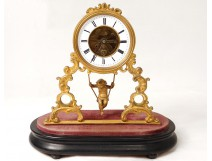 gilt bronze skeleton clock movement Farcot Love swing NapIII nineteenth