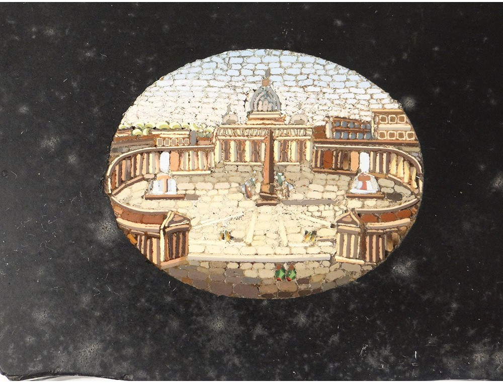 Paperweight Marble Mosaic Micro Vatican St Peter Rome