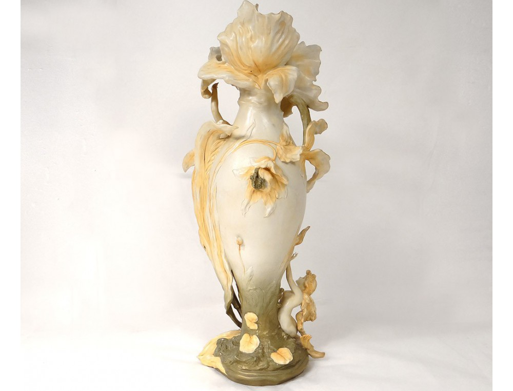 Vase Porcelaine Royal Dux Amphora Femme Sir 232 Ne Lyre