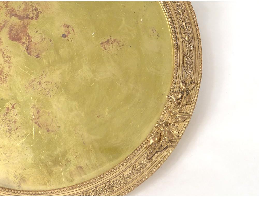 cadre rond louis xvi bronze dor noeud feuillage frame. Black Bedroom Furniture Sets. Home Design Ideas