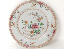 porcelain dish India Company Famille Rose flowers eighteenth century