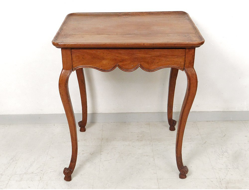 Bureau merisier massif style louis xv bois matériau bois