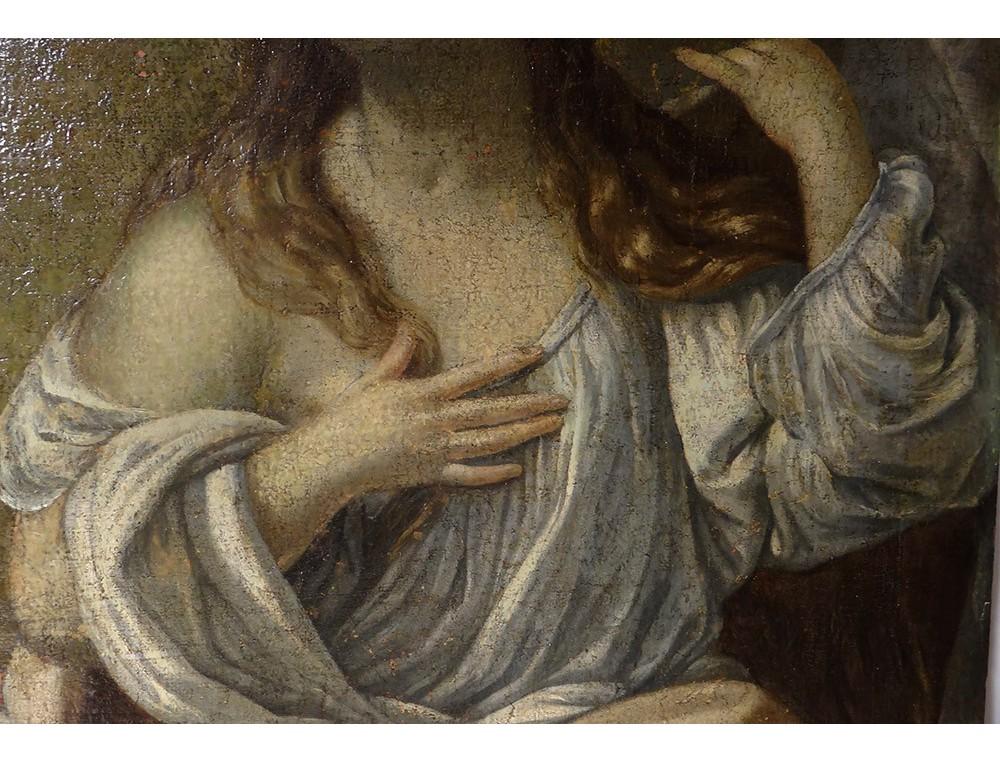 Great Hst Table Penitent Mary Magdalene Skull Whip