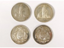 4 chips presence Caisse savings Lorient solid silver arms in 1834 nineteenth