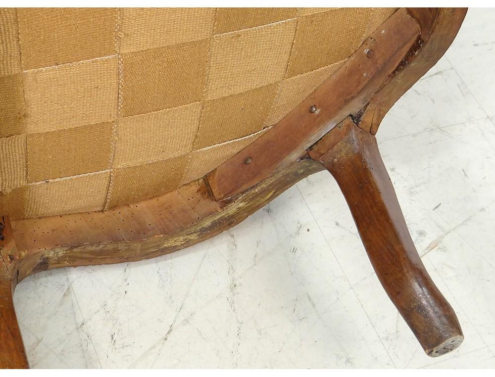 chaise longue louis xv duchesse en bateau noyer sculpt xviii me si cle. Black Bedroom Furniture Sets. Home Design Ideas