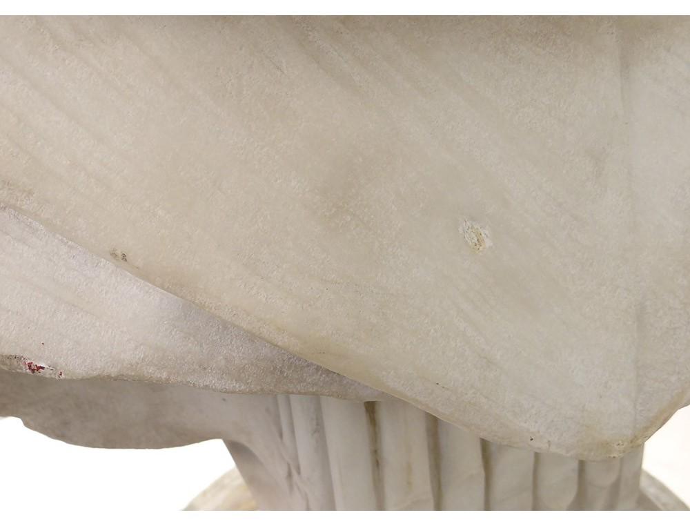 Grand buste marbre Carrare musicien compositeur classique