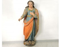 carved polychrome statue religious Saint-Just Beauvais Auxerre XVIIè